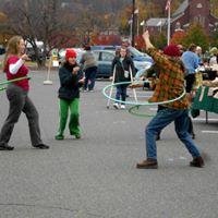 Hula Hoop action at the farmers market